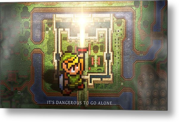 The Legend Of Zelda A Link To The Past Metal Print
