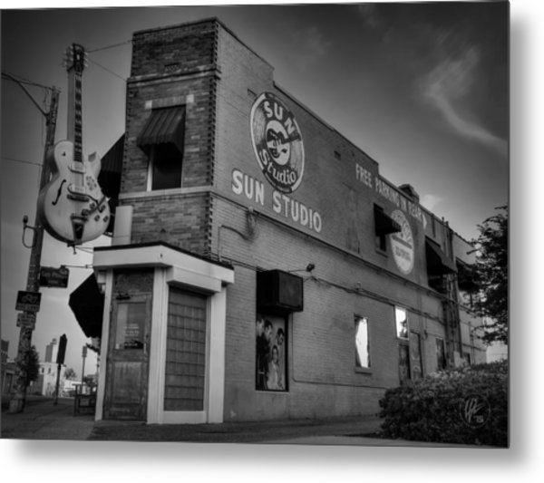 The Legendary Sun Studio 001 Bw Metal Print