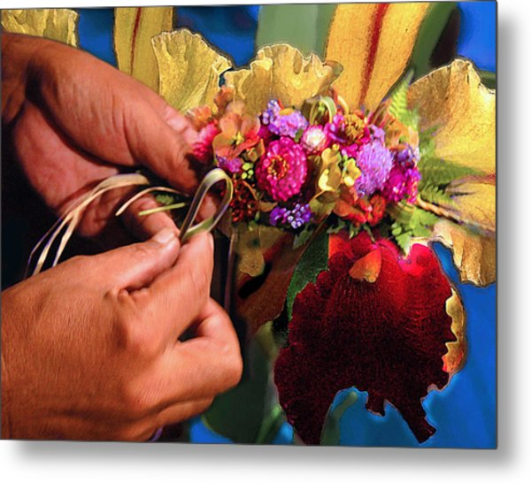 The Lei Maker Metal Print by Jeff Burgess