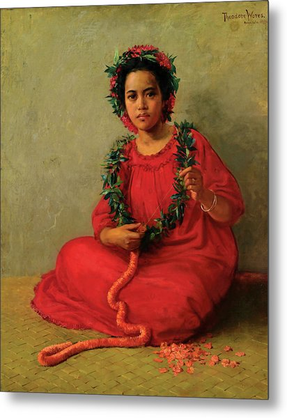 The Lei Maker Metal Print
