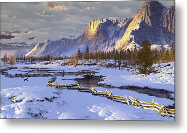 The Life Of Snow Metal Print