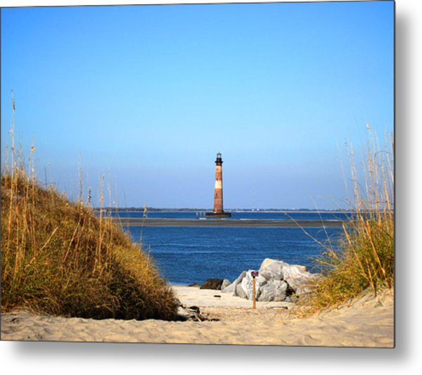 The Lighhouse At Morris Island Charleston Metal Print