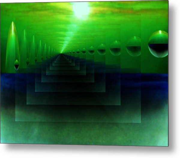 The Light From Eden Metal Print