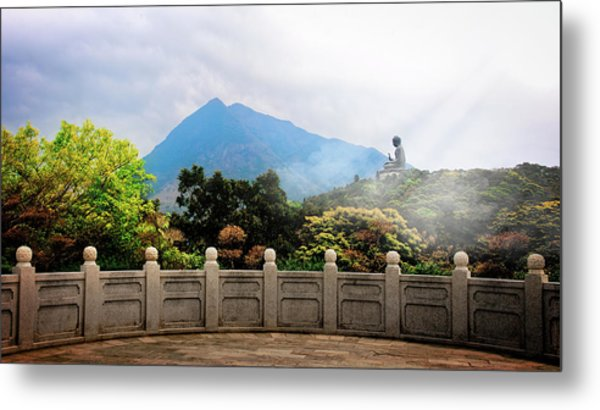 The Light Of Buddha Metal Print