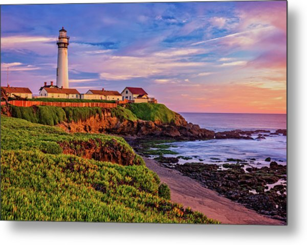 The Light Of Sunset Metal Print