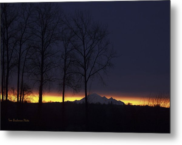 The Light On The Mountain Metal Print
