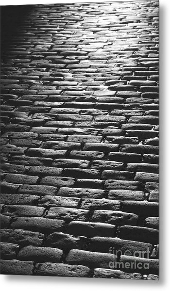 The Light On The Stone Pavement Metal Print by Hideaki Sakurai