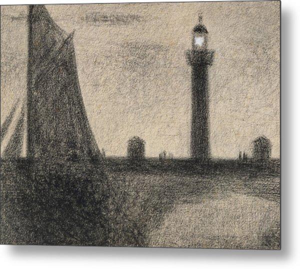 The Lighthouse At Honfleur Metal Print
