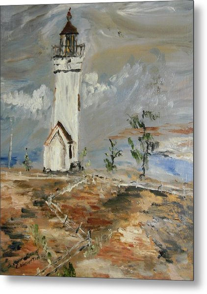 The Lighthouse Metal Print by Edward Wolverton