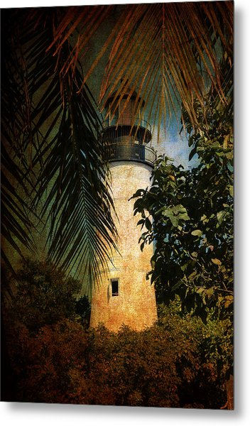 The Lighthouse In Key West Metal Print