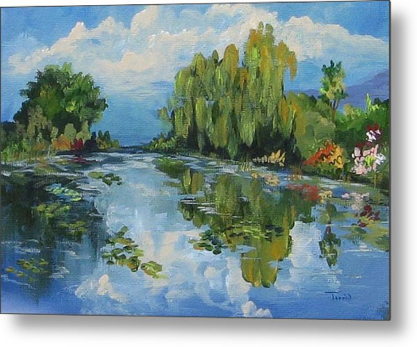 The Lily Pond At Giverny  Metal Print by Torrie Smiley