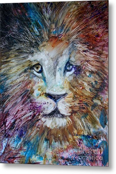 Metal Print featuring the painting The Lion by Deborah Nell