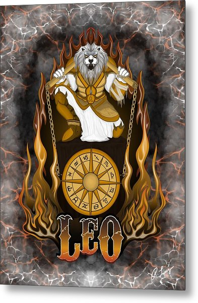 The Lion Leo Spirit Metal Print