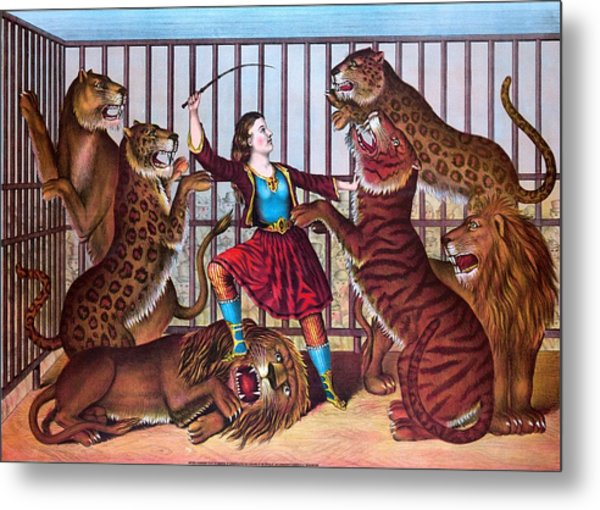 The Lion Queen Print, 1874 Metal Print