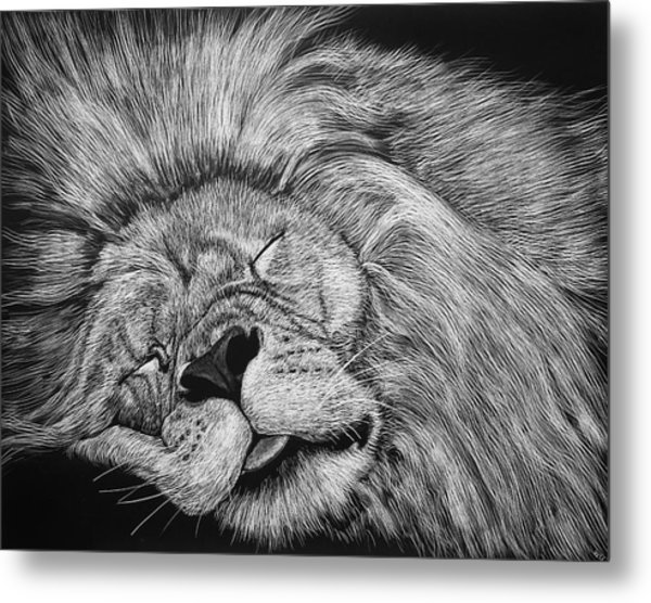 The Lion Sleeps Tonight Metal Print