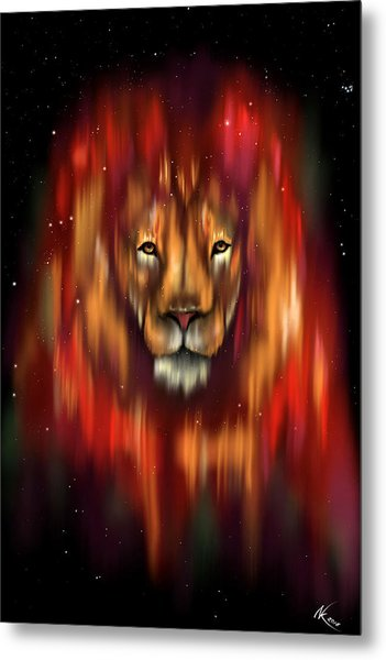 The Lion, The Bull And The Hunter Metal Print
