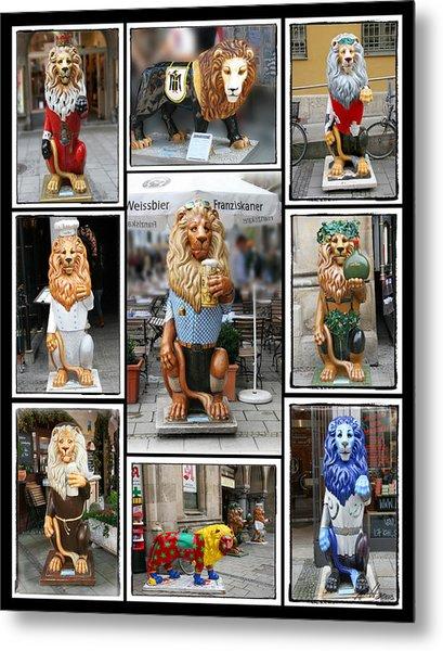 The Lions Of Munich Metal Print
