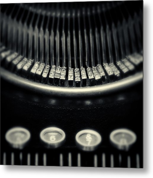 The Literate Piano Metal Print