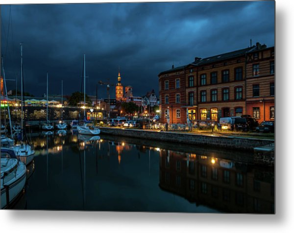 The Little Harbor In Stralsund Metal Print