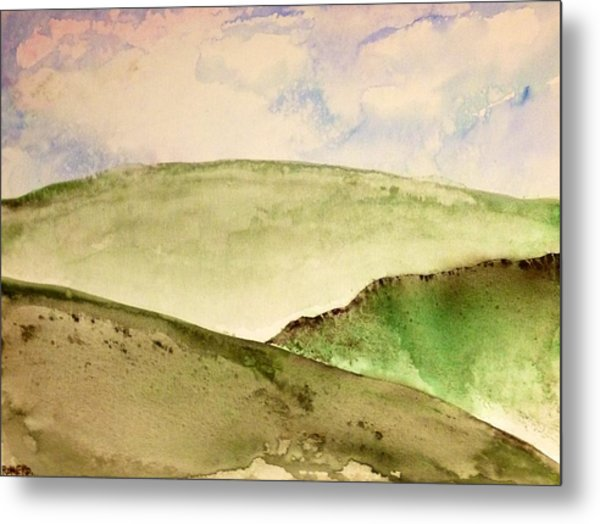 Metal Print featuring the painting The Little Hills Rejoice by Antonio Romero