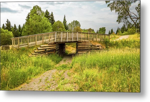 The Little Wooden Bridge Metal Print