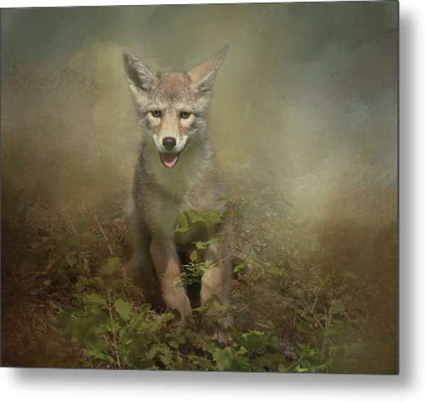 The Littlest Pack Member Metal Print