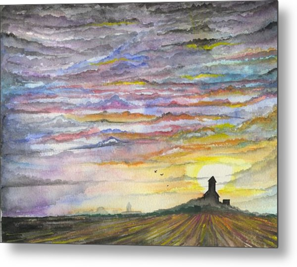 Metal Print featuring the digital art The Living Sky by Darren Cannell
