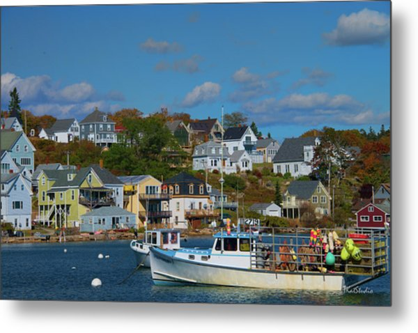 The Lobsterman's Shop Metal Print