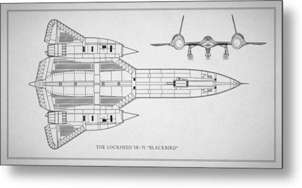The Lockheed Sr-71 Blackbird Metal Print