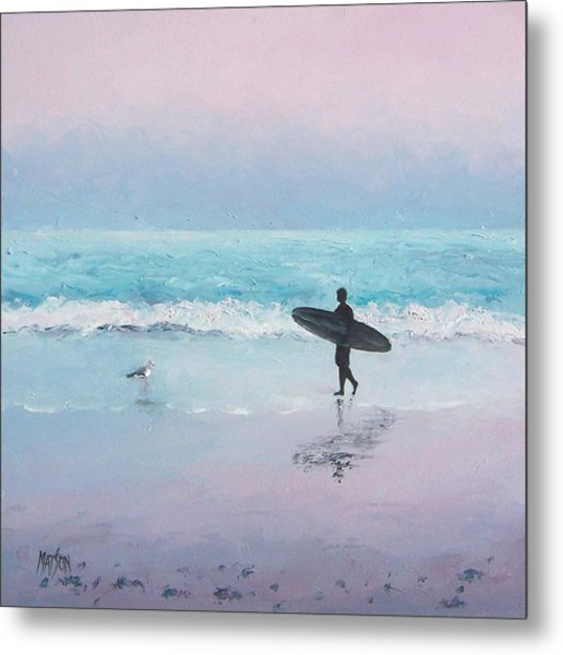 The Lone Surfer 2 Metal Print