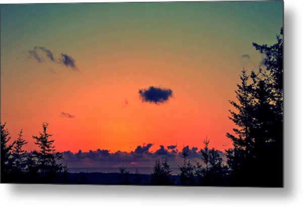 The Loner Cloud Metal Print