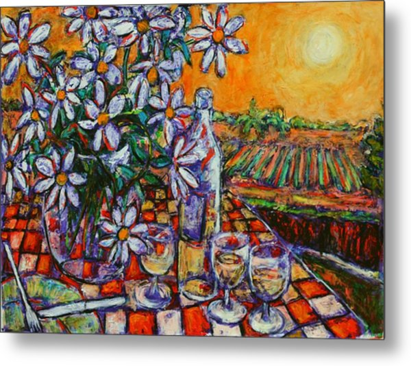 The Long Lunch Metal Print