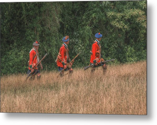 The Long March To Fort Pitt  Metal Print by Randy Steele