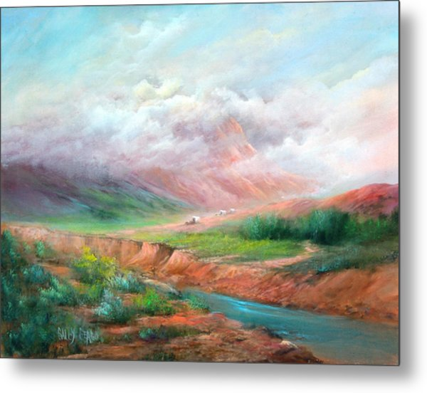 The Long Trail Metal Print by Sally Seago