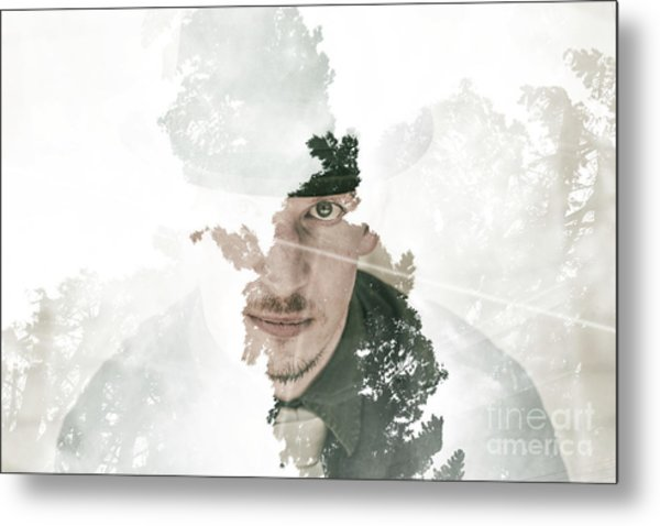 The Looking Glass Forest Man Metal Print
