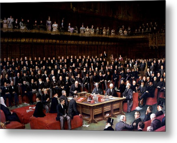The Lord Chancellor About To Put The Question In The Debate About Home Rule In The House Of Lords Metal Print