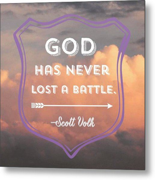 """""""the Lord Is My Strength And My Metal Print"""