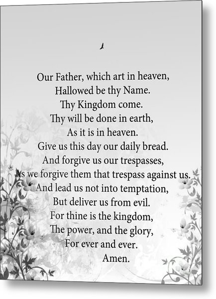 The Lord's Prayer Metal Print