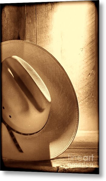 The Lost Hat Metal Print