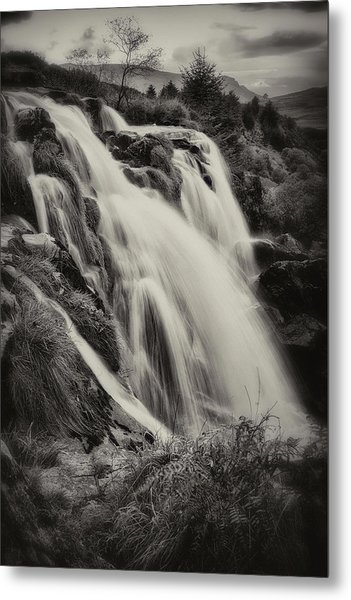 Metal Print featuring the photograph The Loup Of Fintry In Black And White by Jeremy Lavender Photography