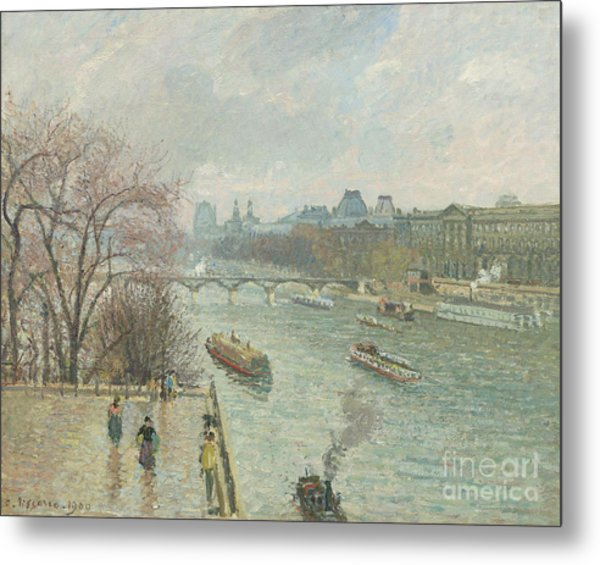 The Louvre, Afternoon, Rainy Weather, 1900  Metal Print