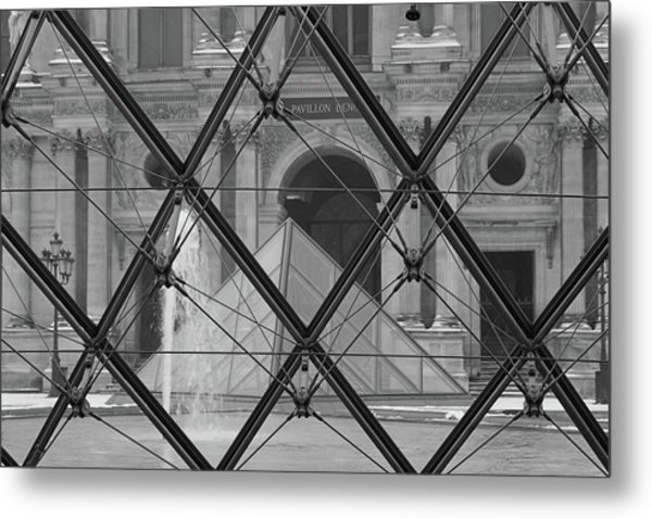 The Louvre From The Inside Metal Print