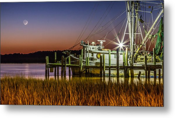 The Low Country Way - Folly Beach Sc Metal Print