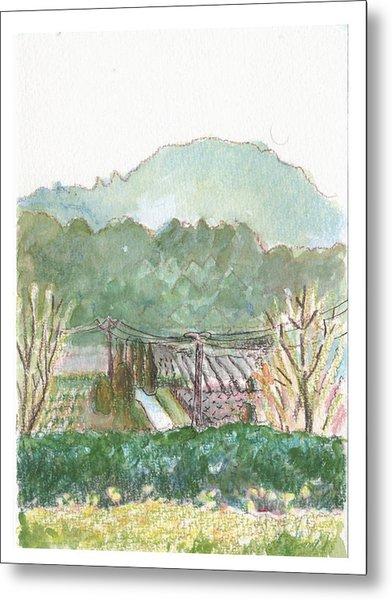 The Luberon Valley Metal Print