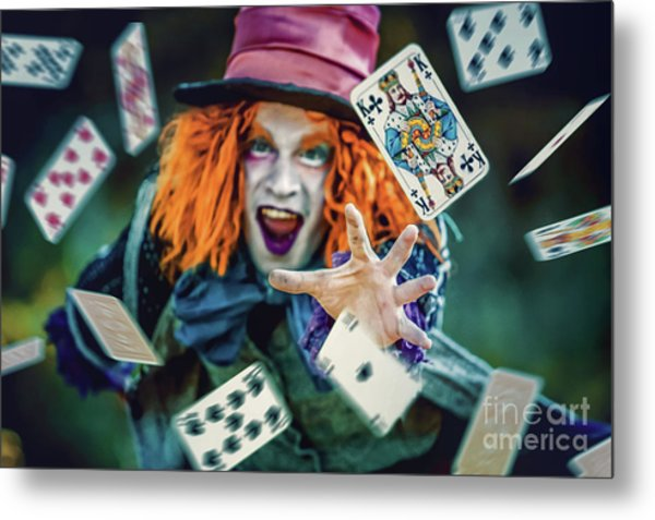 Metal Print featuring the photograph The Mad Hatter Alice In Wonderland by Dimitar Hristov