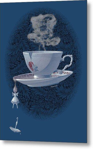 The Mad Teacup - Royal Metal Print