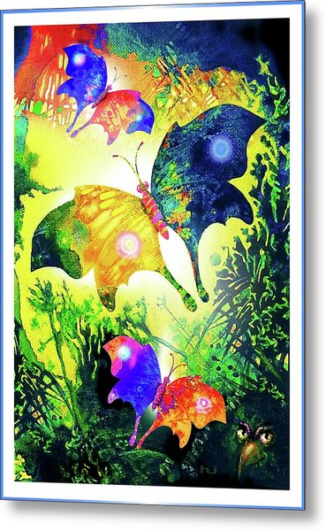 Metal Print featuring the painting The Magic Of Butterflies by Hartmut Jager