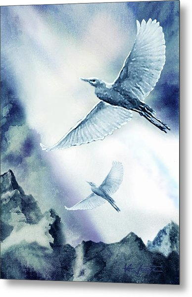 Metal Print featuring the painting The Magic Of Flight by Hartmut Jager