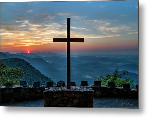 The Magnificent Cross Pretty Place Chapel Greenville Sc Great Smoky Mountains Art Metal Print