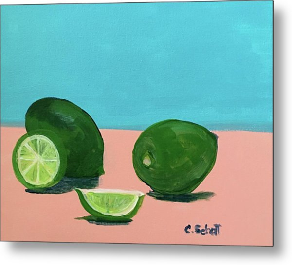 The  Magnificent Fruit From The Lime Tree II Metal Print